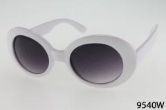 9540W - One Dozen - White Sunglasses
