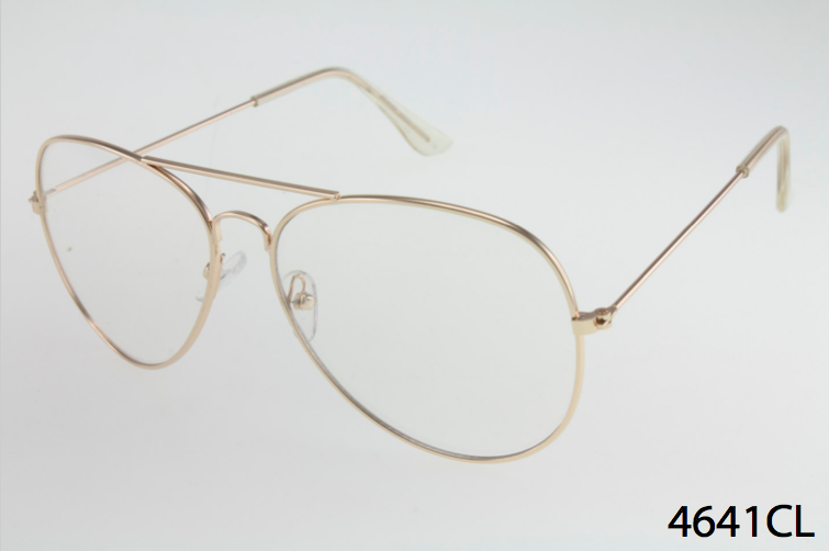 Clear Lens Wholesale Metal Aviator Glasses