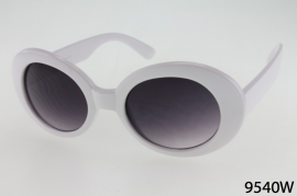 9540W - One Dozen - White Sunglasses