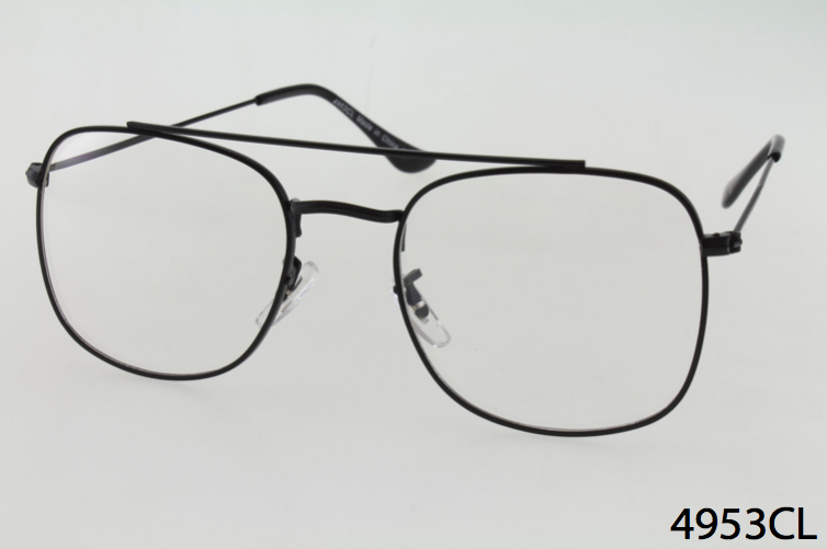 cf242236c41a6 Wholesale Square Aviator Clear Lens Glasses with Ornate Metal Detailing